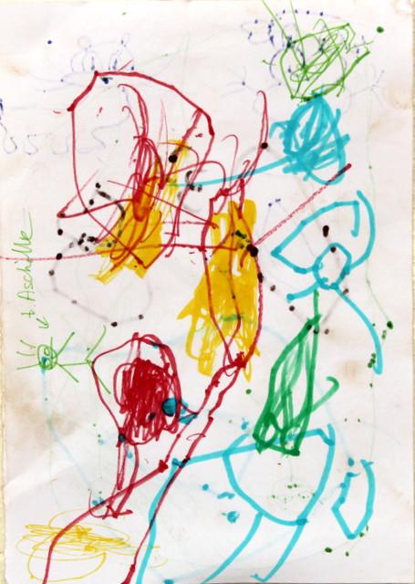 Spokój w bałaganie. Autor nieznany. Flamaster, papier biurowy. 21x29 cm