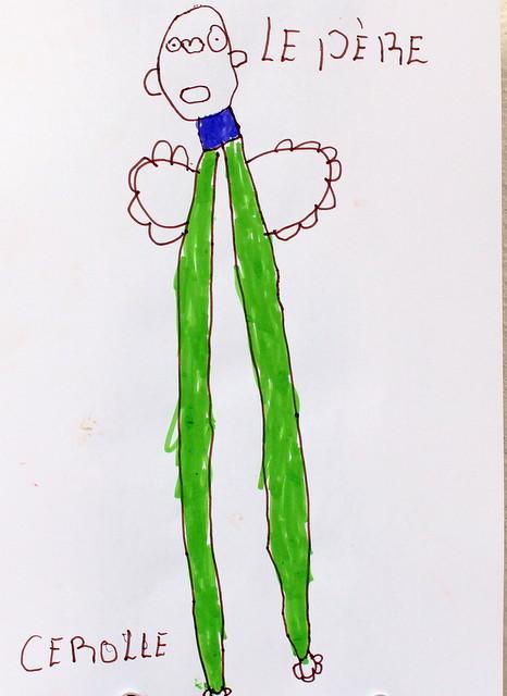 Ojciec Darek. Cerolle. 5 lat. Flamaster, papier biurowy. 21x29 cm.